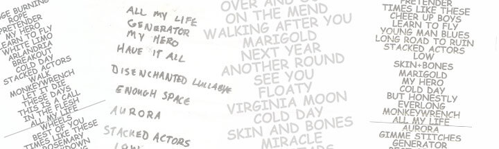 Foo Fighters Setlists