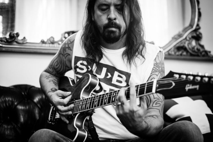 Dave Grohl recording in Austin, Texas