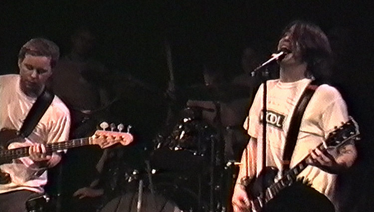 Foo Fighters performing at Velvet Elvis, March 4th 1995